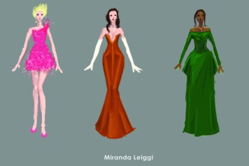 costume sketches, costume renderings, oscar dresses, fancy dress, oscar dress design