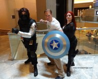 dragon con 2014, cosplay, black widow, bucky barnes, winter soldier, natasha romanoff, natalia romonova, costumes, cosplay, marvel