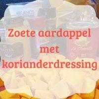 Zoete aardappel met koriander dressing