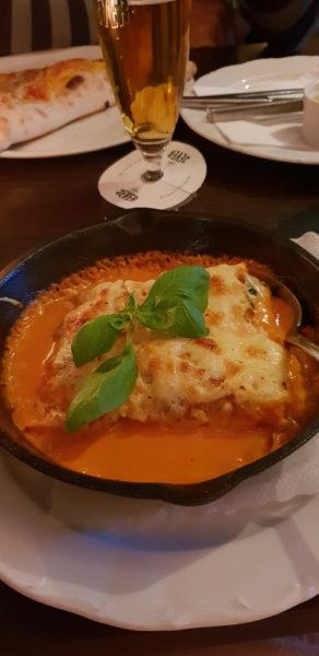 crepe met mozarella en spinazie