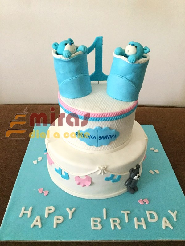 Online Customised Twins Themed Cakes Engagement Cakes Cupcakes Butter Cream Cakes Fresh Cream Cakes