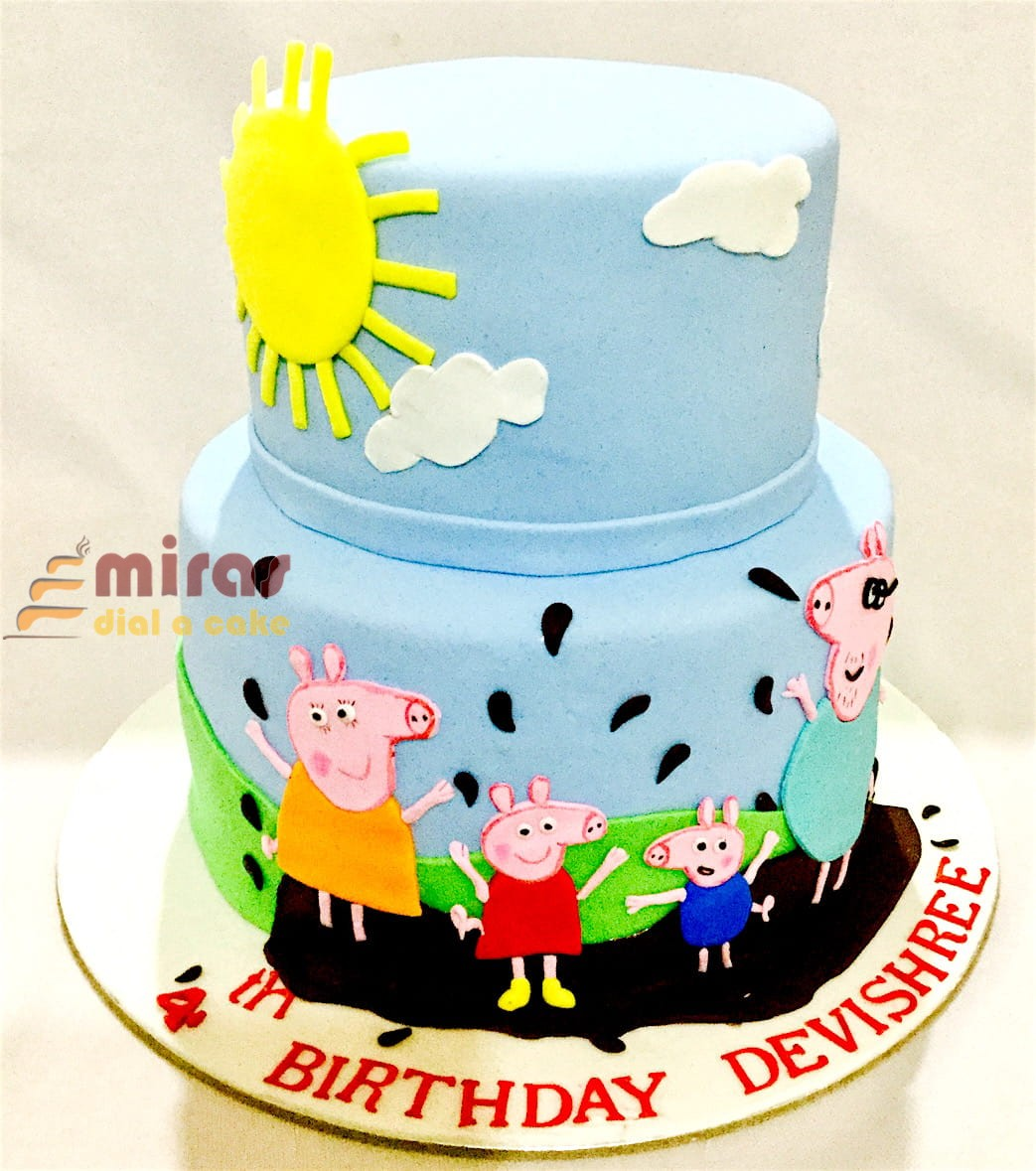 Online Peppa Pig Theme Birthday Cakes For Kids I Order Online For Bangalore Delivery