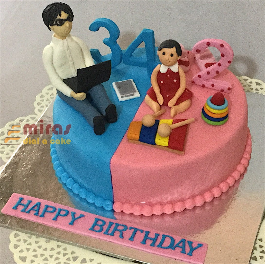 Online Baby Theme Birthday Cake Customised Cakes Delivered In Bangalore
