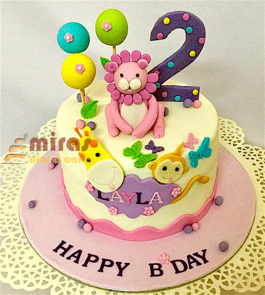 Online Birthday Cakes Order 2nd Birthday Cake Animal Theme Cakes Delivery In Bangalore