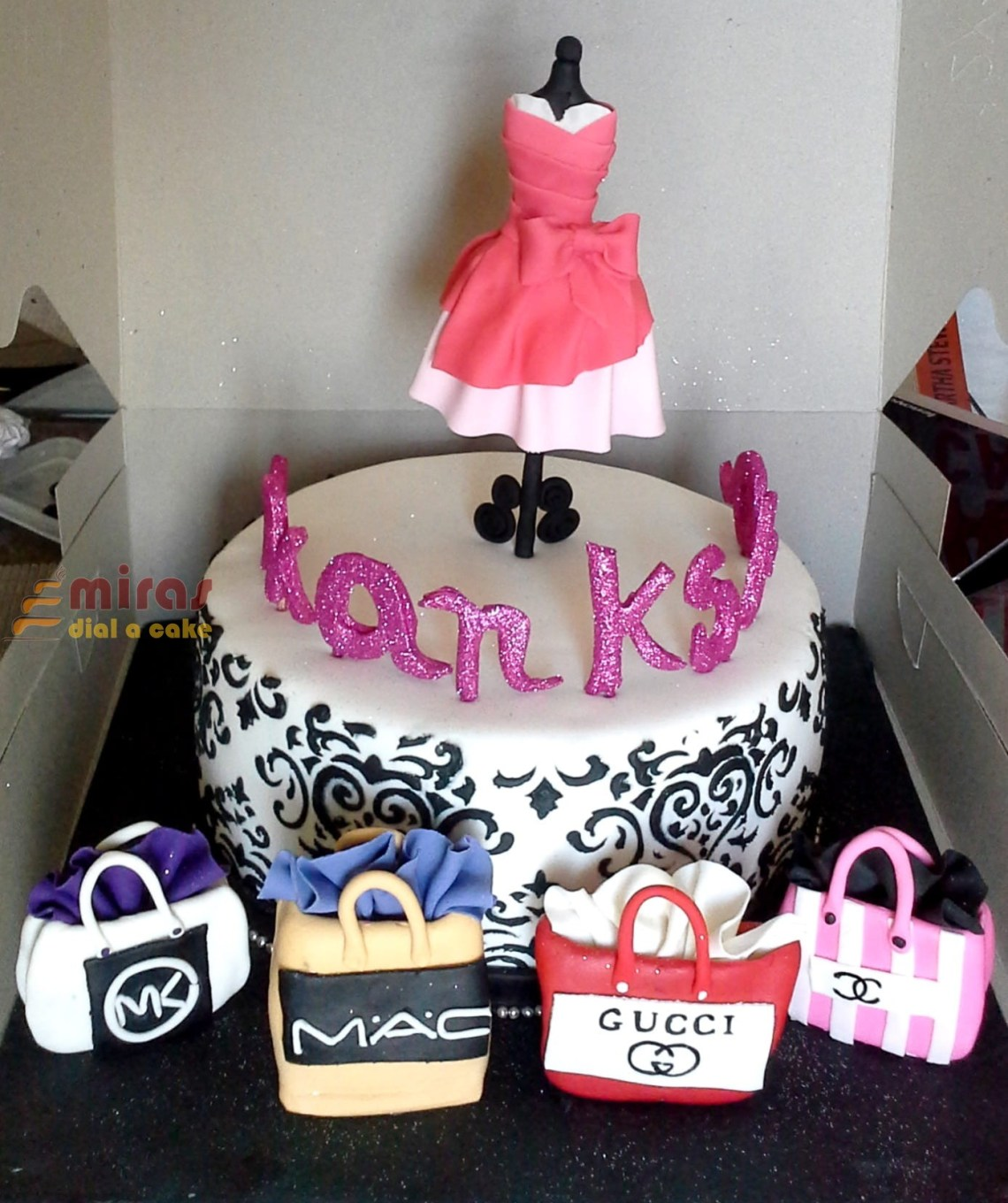 Birthday Cake For Fashion Designer With Name The Cake Boutique