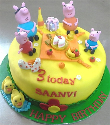 Online Peppa Pig Theme Birthday Cakes For Kids Order Online For Bangalore Delivery