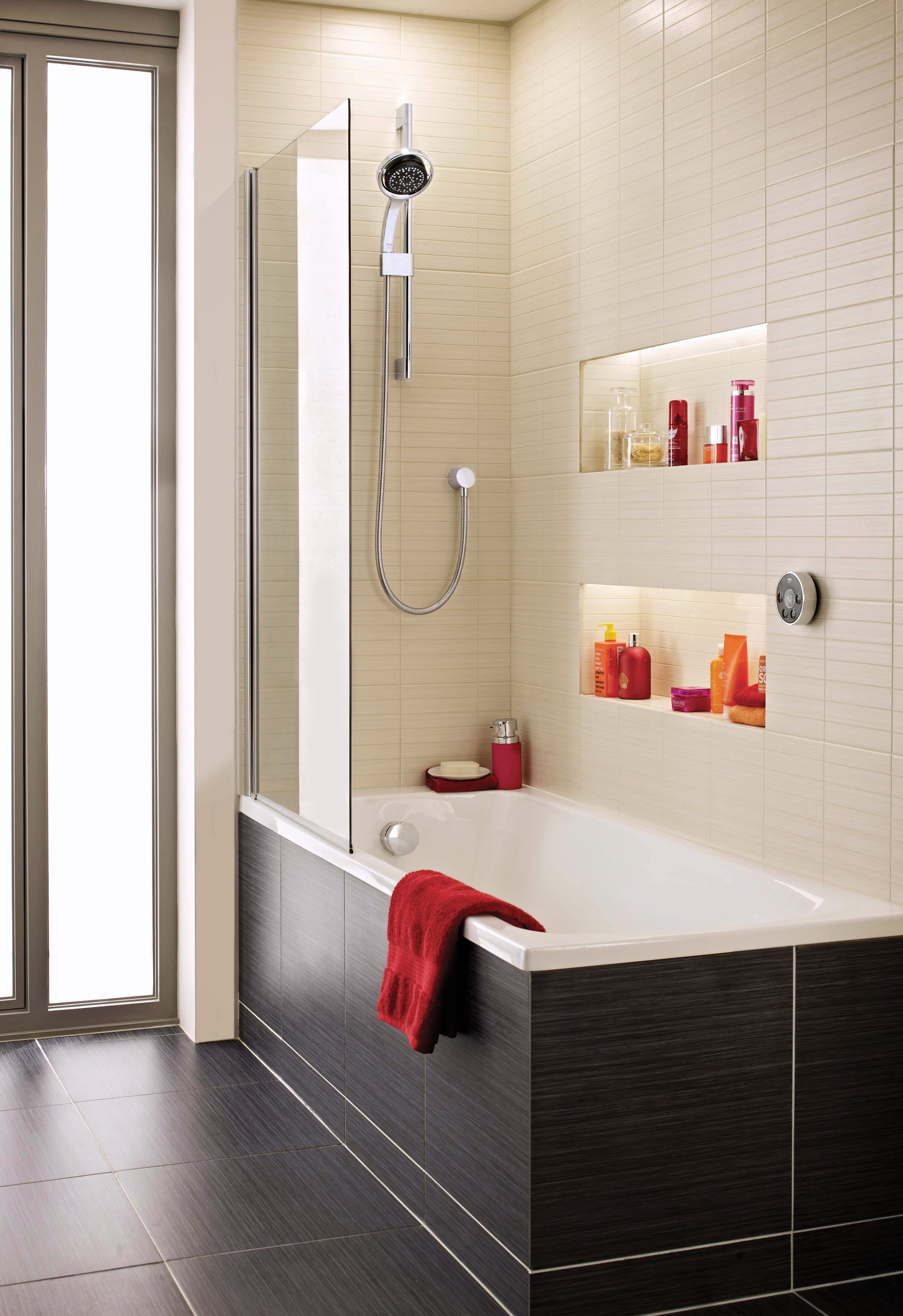 shower curtains or bath screens by mira