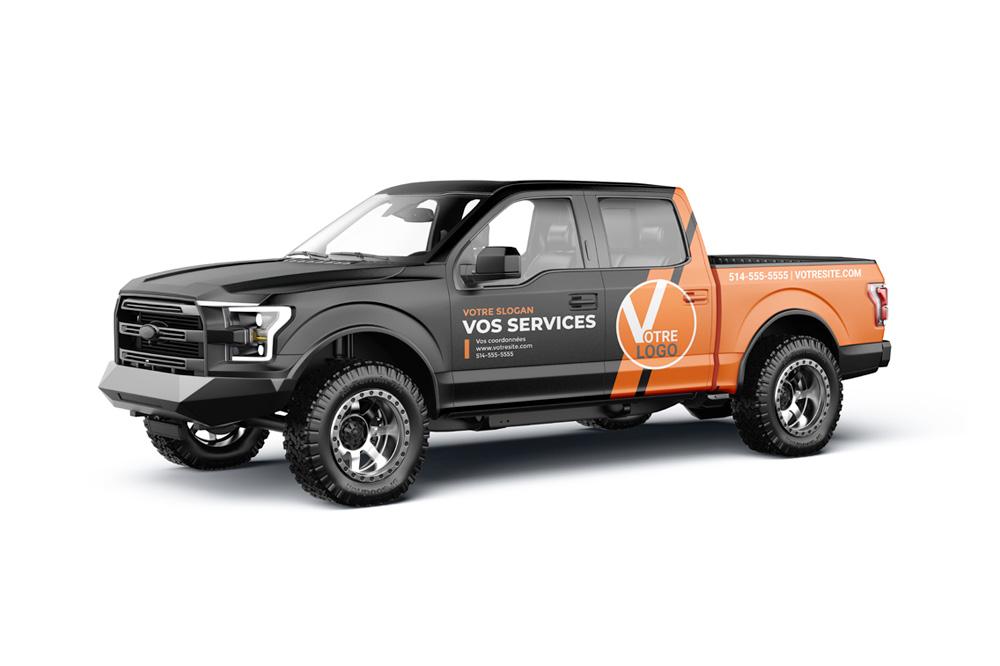 Habillage et lettrage de véhicules utilitaires