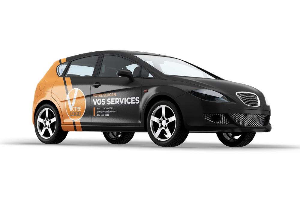 Habillage et lettrage d'automobiles