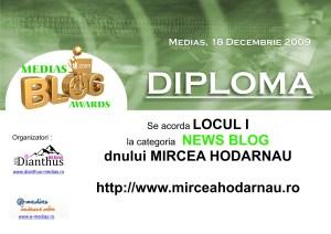 Diploma MBA 2009 Mircea Hodarnau
