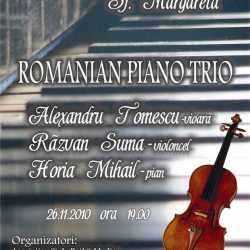 Concert Romanian Piano Trio la Sf. Margareta