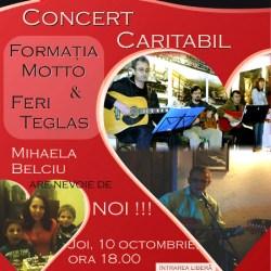 Grupul Motto si Feri Teglas canta pentru o cauza nobila