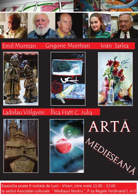 afis Arta Medieseana 2014 final