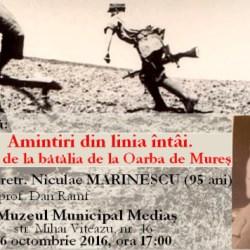 """Amintiri din linia intai"", la Muzeul Municipal Medias"