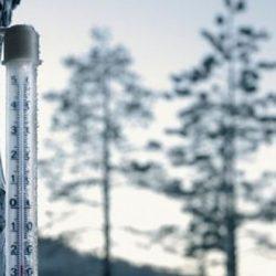 Minus -25,2 grade Celsius la Dumbraveni