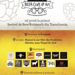 BEER – Craft@Art- Event – targ de bere artizanala la Muzeul ASTRA