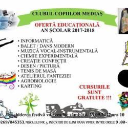 Clubul Copiilor Medias, oferta educationala 2017-2018