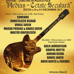"""Festivalul national de muzica folk """"Medias-Cetate Seculara"""""""