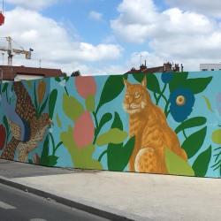 Medieseanul Raul Oprea face un mural la Paris