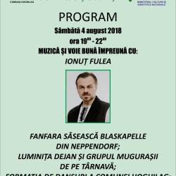 Program: Sarbatoarea Tuberozelor din Hoghilag