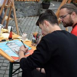 """Un mediesean a participat la proiectul """"Orasul Artistilor"""" (video)"""