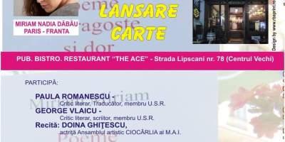 Miriam Nadia Dabau isi lanseza cartea la Bucuresti