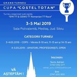 """Grand turneu : Cupa """"Costel Totan"""" la tenis de masa"""