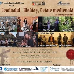 Program prima zi : Festivalul Medias, cetate medievala. Targ de mestesuguri vii