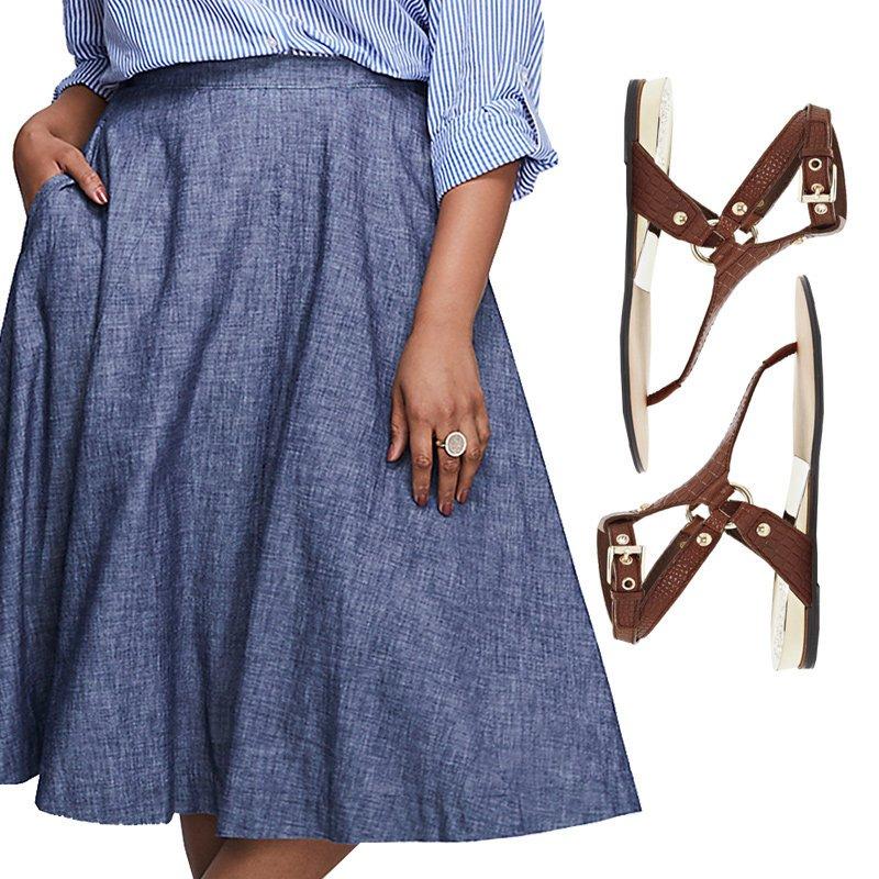 Skvělé sukně a sandály pro letní inspiraci