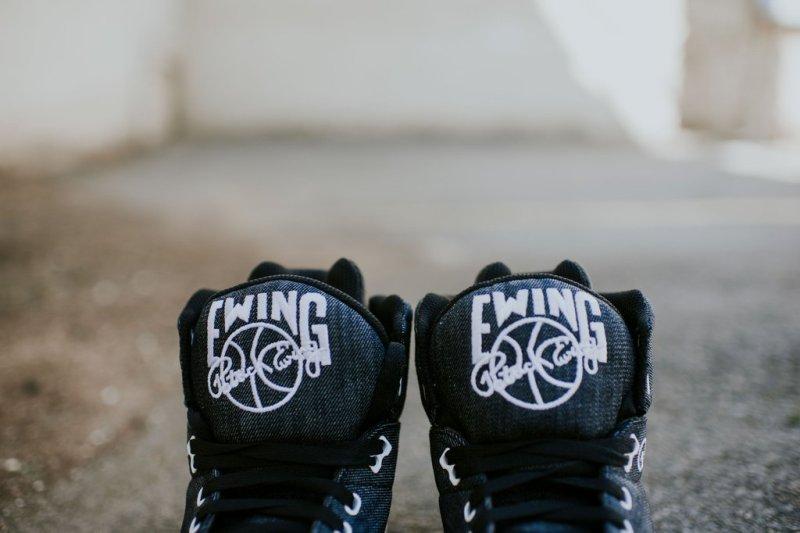 Stylové tenisky z džínoviny Ewing 33 Hi Black Denim