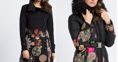 Trendy zimní kabáty a bundy barevné značky Desigual