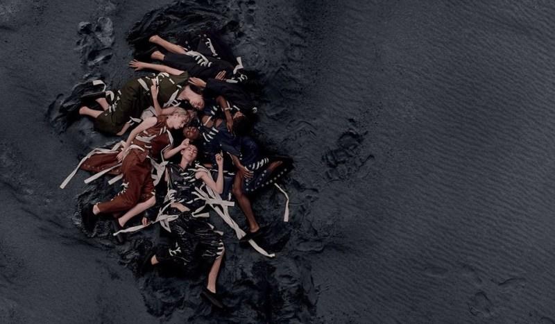 Návrhář Craig Green a jeho kampaň natočena dronem