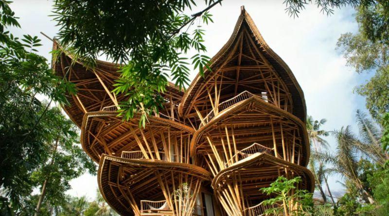 Překrásné bambusové domy, za kterými stojí sen jedné ženy
