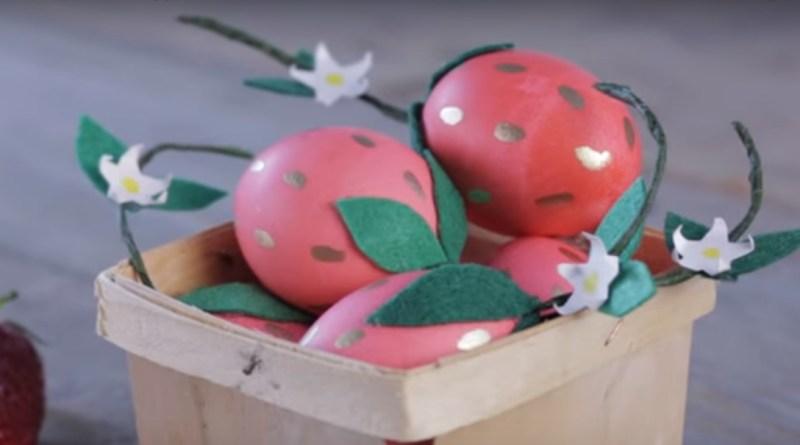 Jak udělat velikonoční vajíčka jako sladké jahody