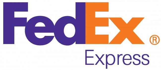 Logo celosvětové spediční firmy FedEx