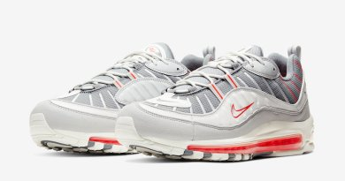Tenisky Nike Air Max 98 Grey Sail Habanero Red