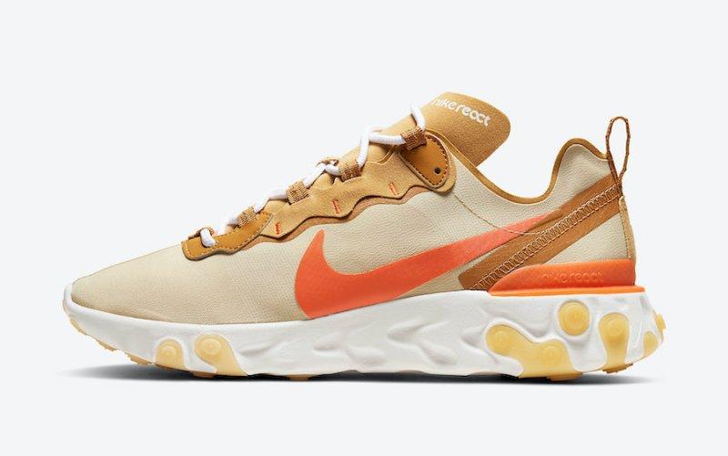 Tenisky Nike React Element 55 Team Gold CZ3595-781