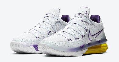 Tenisky Nike LeBron 17 Low Lakers Home CD5007-102