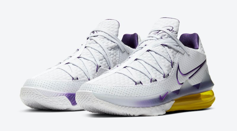 Tenisky Nike LeBron 17 Low Lakers Home CD5007-102