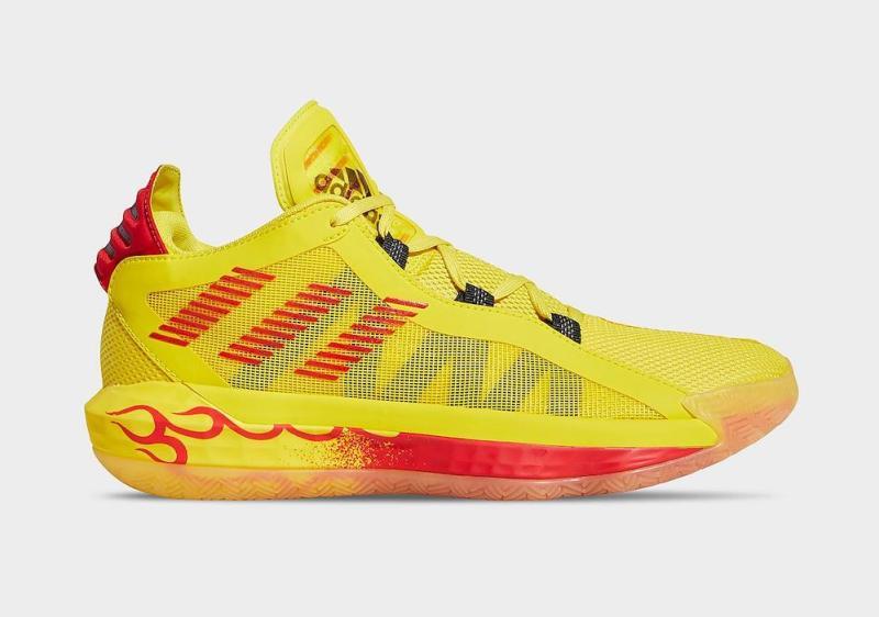Tenisky adidas Dame 6 Yellow Hot Rod FW8498