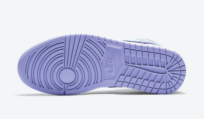 Tenisky Air Jordan 1 Mid Purple Aqua 554724-500
