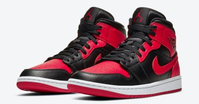 Tenisky Air Jordan 1 Mid Black Red Bred 554724-074