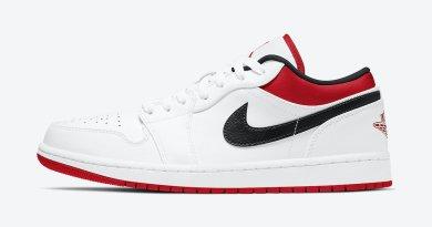Tenisky Air Jordan 1 Low White Red 553558-118