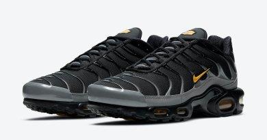 Pánské černé a šedé tenisky Nike Air Max Plus Batman Black Grey Yellow DC0956-001 nízké sportovní boty a obuv Nike