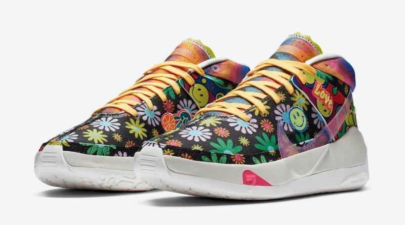 Pánské barevné tenisky Nike KD 13 Easy Money Sniper Multi Color DA1341-100 nízké basketbalové boty a obuv Nike
