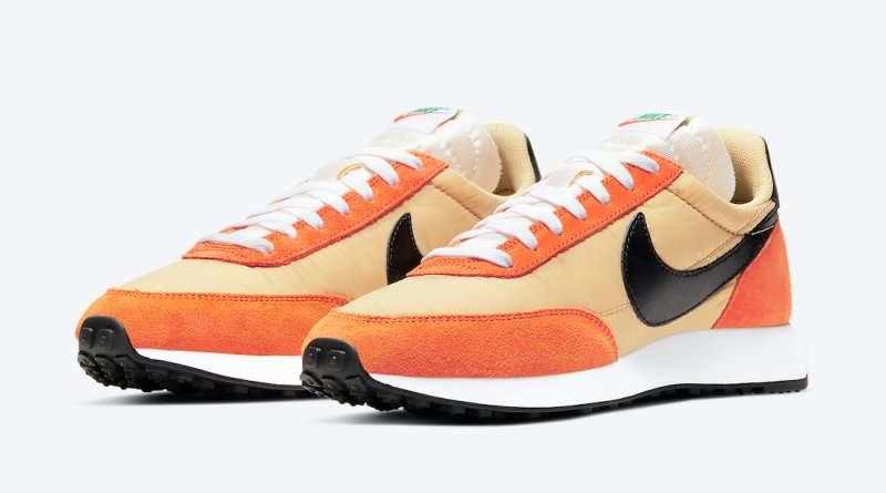 Pánské oranžové a zlaté tenisky Nike Air Tailwind 79 Team Gold/Black-Starfish 487754-703 nízké sportovní boty a obuv Nike