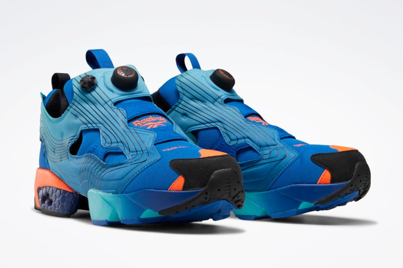 Pánské modré tenisky a boty Chromat x Reebok Instapump Fury Vector Blue/Glacier Blue-Black FY0826 nízké botasky a obuv Reebok