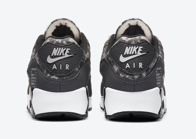 Pánské černé šedé tenisky a boty Nike Air Max 90 SE Enigma Stone/Off Noir-Iron Grey-White CT1688-001 nízké botasky a obuv