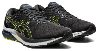 Pánské černé šedé tenisky a boty Asics Gel-Cumulus 22 Graphite Grey/Lime Zest 1011A862-020 nízké běžecké botasky a obuv Asics
