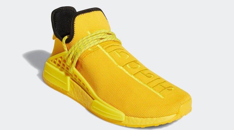 Pánské žluté tenisky a boty Pharrell x adidas NMD Hu Yellow/Black/Yellow GY0091 nízké sportovní botasky a obuv adidas